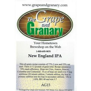 New England IPA- All Grain Kit