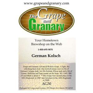 Kolsch: All Grain