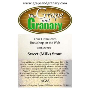 Sweet (Milk) Stout: All Grain
