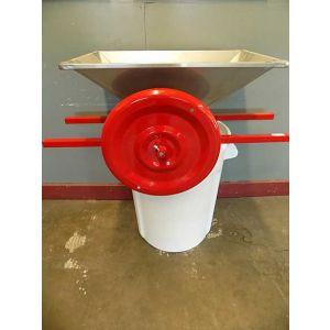 Crusher- Manual- Stainless Steel Hopper