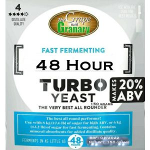 Turbo Yeast- 48 Hour (G&G Brand)