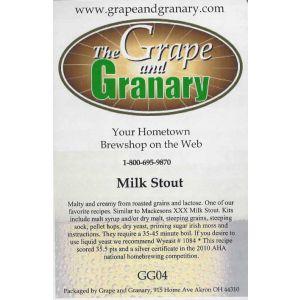 Milk Stout- G & G