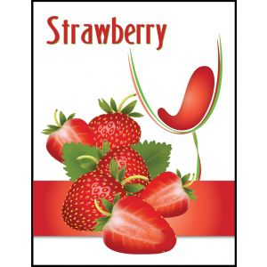 Strawberry White Merlot- Label