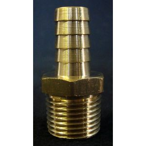 Brass Male Hose Stem- 1/2