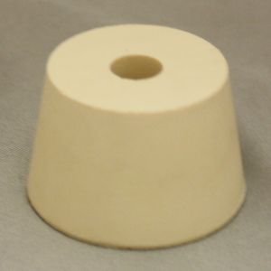 #7-1/2 Drilled Rubber Stopper