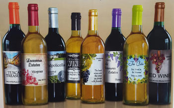 We can even help you create a personalized set of labels for your wine.